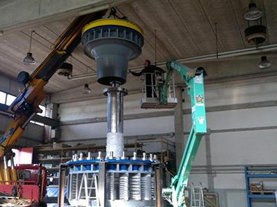 Premontaggio turbina Kaplan